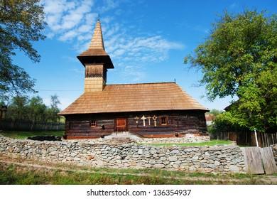 Grosii Noi wooden church, Arad, Romania