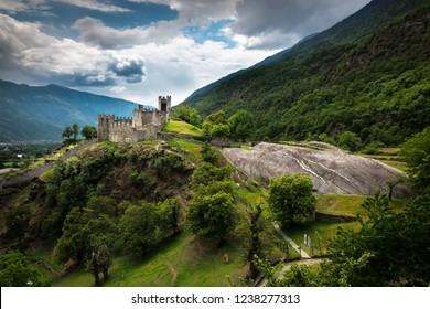 Grosio castle in Valtellina, Italy