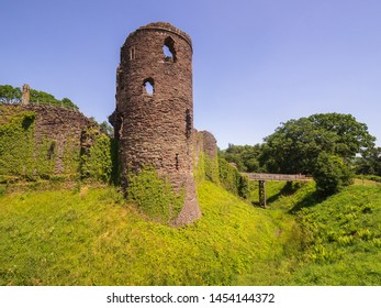 Grosmont Castle  a ruined castle in the village of Grosmont, Abergavenny Monmouthshire, Wales a view from the front corner