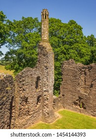 Grosmont Castle  a ruined castle in the village of Grosmont, Abergavenny Monmouthshire, Wales a view of the rear tower