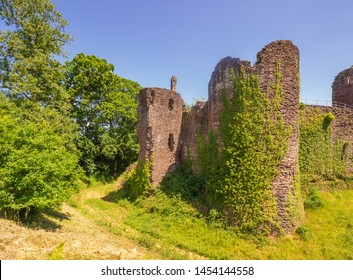 Grosmont Castle  a ruined castle in the village of Grosmont, Abergavenny Monmouthshire, Wales a view from the back corner