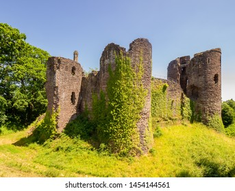 Grosmont Castle  a ruined castle in the village of Grosmont, Abergavenny Monmouthshire, Wales a view from the side