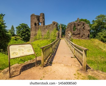Grosmont Monmouthshire Wales June 30 2018 ,Grosmont Castle  a ruined castle in the village of Grosmont, Abergavenny Monmouthshire, Wales