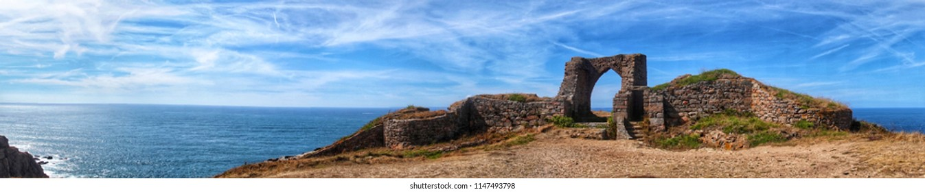 Grosnez Castle is a ruined 14th-century castle in Saint Ouen, situated in Grosnez in the north-west corner of the island of Jersey in the Channel Islands.