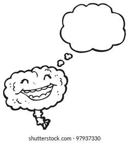 gross brain cartoon character