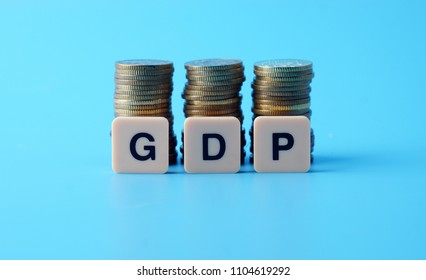 GDP (Gross domestic product) with coin in increase trend