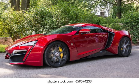 GROSSE POINTE SHORES, MI/USA - JUNE 13, 2017: A 2017 Lykan Hypersport at the EyesOn Design car show, held at the Edsel and Eleanor Ford House, near Detroit, Michigan.