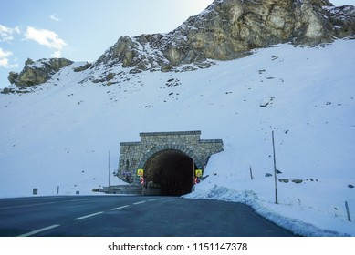 Grossglockner, Austria : Picture of Tunnel with snow from Grossglockner High Alpine Road in Austria.