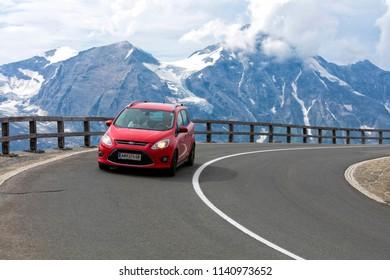 Grossglockner, Austrian, 23 Juny 2015: Alpine road, Eastern Alps