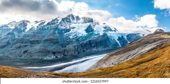 grossglockner mountain in austria - hohe tauern