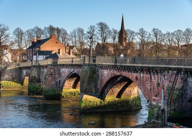 Grosvenor bridge is a stone arch bridge in Chester, UK, spaning over river Dee.