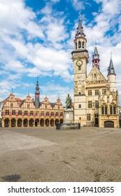 Grote markt with City belfry of Aalst - Belgium