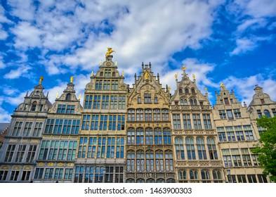 The Grote Markt (Main Square) of Antwerp (Antwerpen), Belgium.