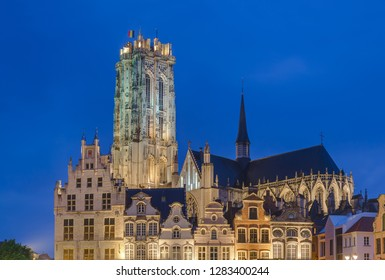 Grote Markt in Mechelen Belgium - architecture background