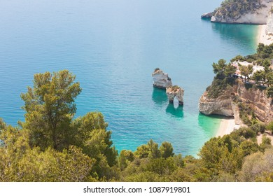 Grotta Smeralda, Apulia, Italy - Looking onto the grotto of Smeralda from a viewpoint