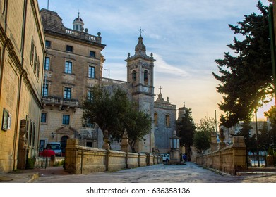 Grotto and the Collegiate church of St. Paul in Rabat, just outside of Mdina, Malta