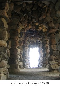 Grotto made of natural stones.