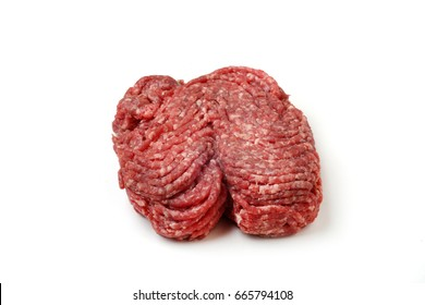 Ground beef isolated on white background