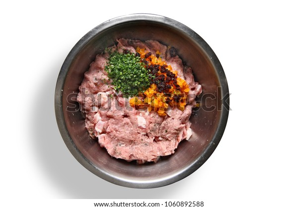 ground beef and more seasoning for the French terrine