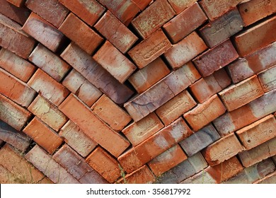 Ground bricks on a pallet