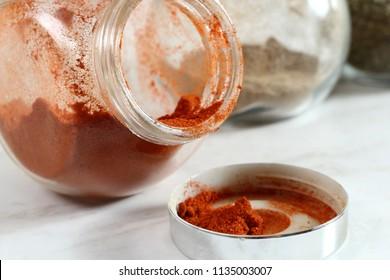Ground Cayenne Pepper in Glass Spice Jar