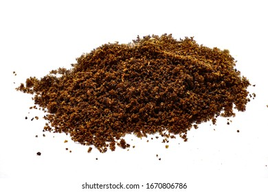 Ground Cloves.Isolated Pile of ground cloves