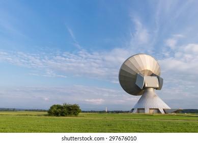 Ground communication station at Raisting, Lake Ammersee, Bavaria, Germany