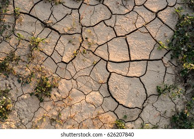 The ground cracks, no water, lack of moisture. Drought agricultural land.