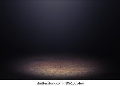 Ground in the dark.