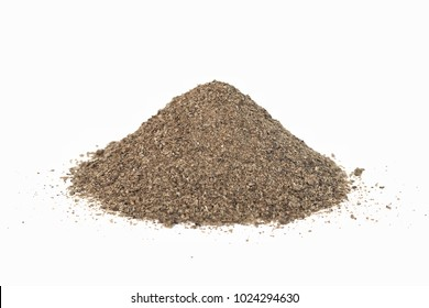 Ground dried beet pulp agricultural raw material high crude protein , fat , fiber for nutrition of  animal feed on white background