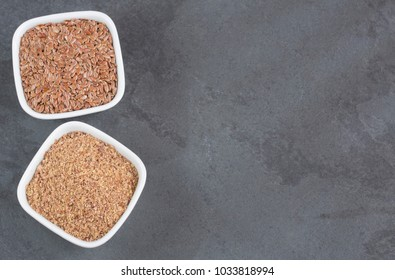 Ground flaxseed organic seeds - Linum usitatissimum