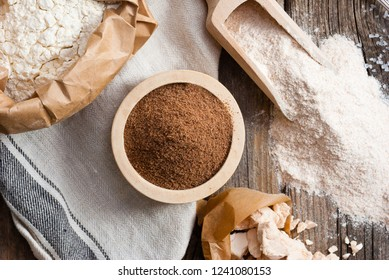 ground linseed and whole wheat, flour variation