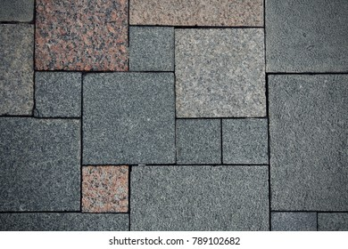 The ground with rectangle granite rock pattern.