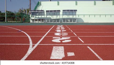 Ground Running, Running track on the stadium