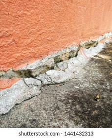 Ground subsidence under the building make the hole and damaged floor.