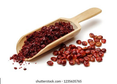 Ground Sumac and berries isolated on white background