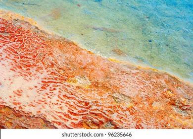 Ground surface in Pamukkale, Turkey