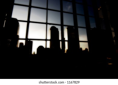 Ground zero silhouette