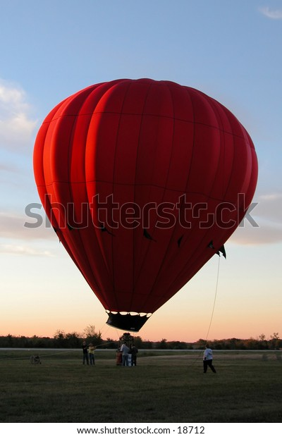 Grounded: Hot air balloon, from First Annual Hugo Oklahoma Balloon Festival.