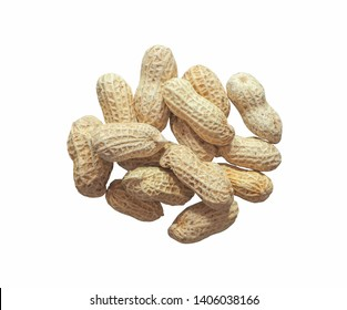 Groundnut or peanut isolated on white background.Scientific name is Arachis hypogaea.