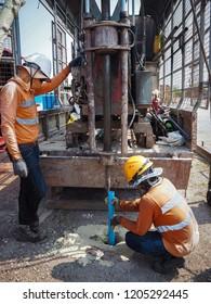 Groundwater borehole installation