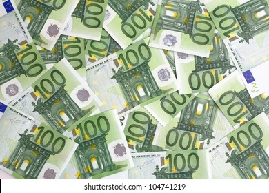 group of 100 euro notes