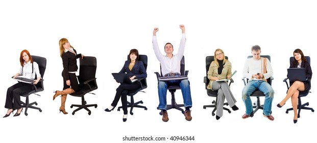 Group of 8 people in chairs
