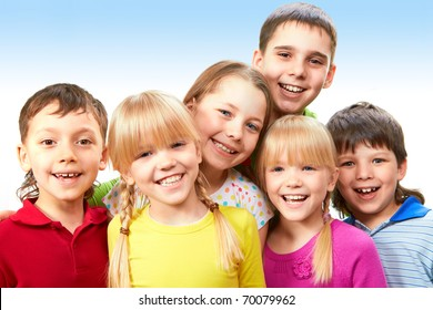 Group of adorable boys and girls together