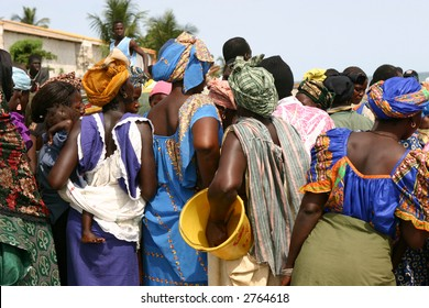 Group of african women talking