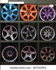 Group of aluminium alloy rims, Car rims.