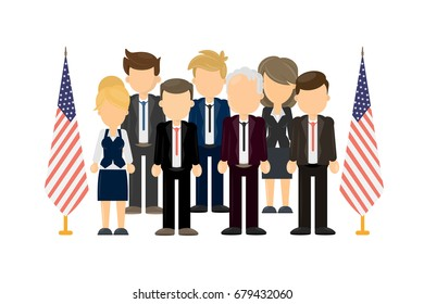 Group of american politicians.