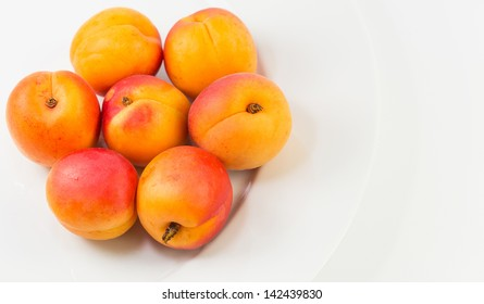A group of apricot fruits