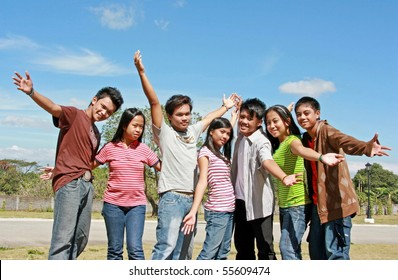 Group of Asian Teenagers