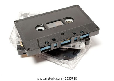 group of audio tapes